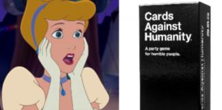 zszokowana księżniczka Disneya i Cards Against Humanity