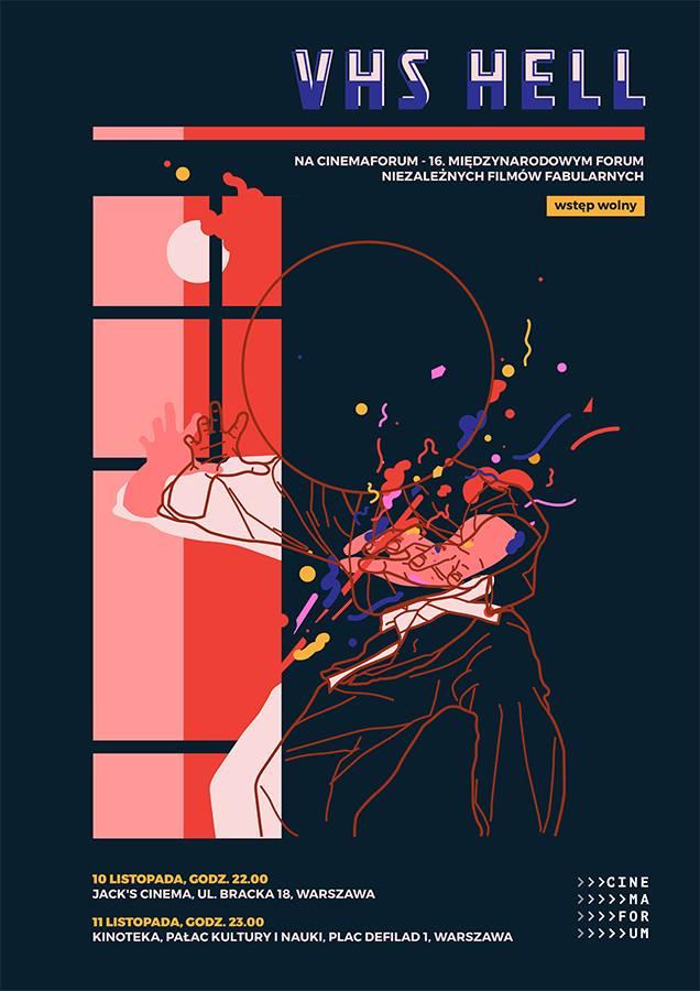 Plakat promujący wydarzenie VHS HELL