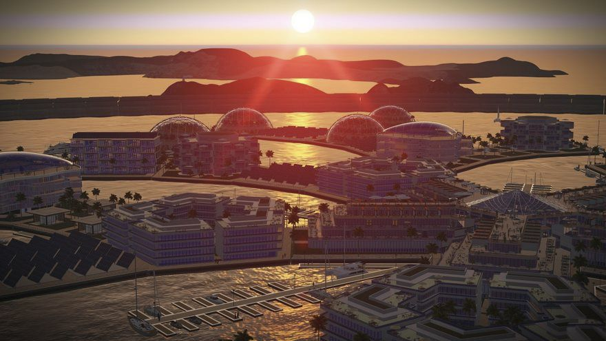 Projekt miasta unoszącego się na wodzie