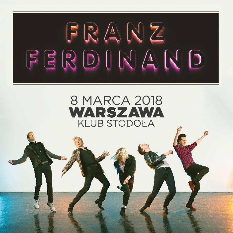 Plakat promujący koncert Franz Ferdinand