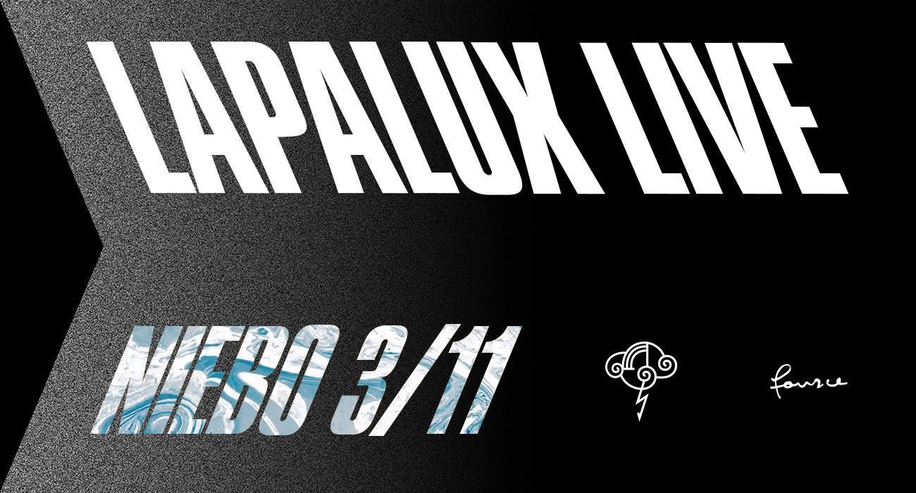 Plakat promujacy koncert Lapalux