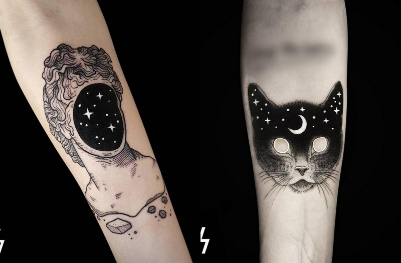 Tatuaże Które Celebrują Magię Kosmosu Magazyn Hiro