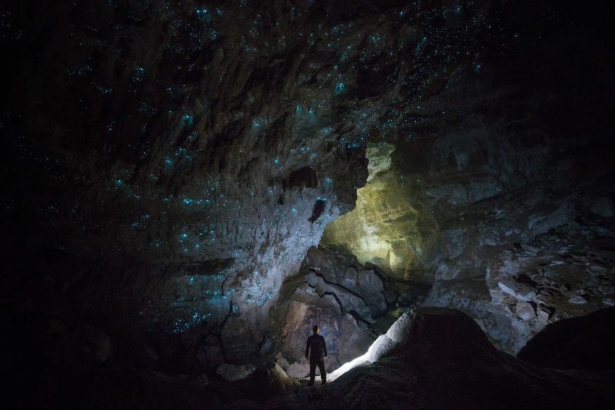 Jaskinia ze świecącycmi robakami