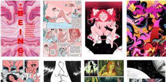 Strony z powieści graficznej Isota