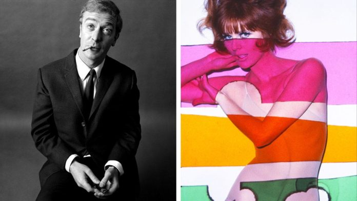 przedstawione dwa zdjecia, na jednym kobieta przerobiona w kolorowych barwach, na drugim bialy mężczyzna palący papieorsa, siedzacy na stolu