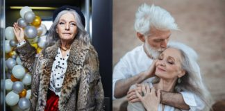 Dwa zdjęcia przedstawiające starszych ludzi