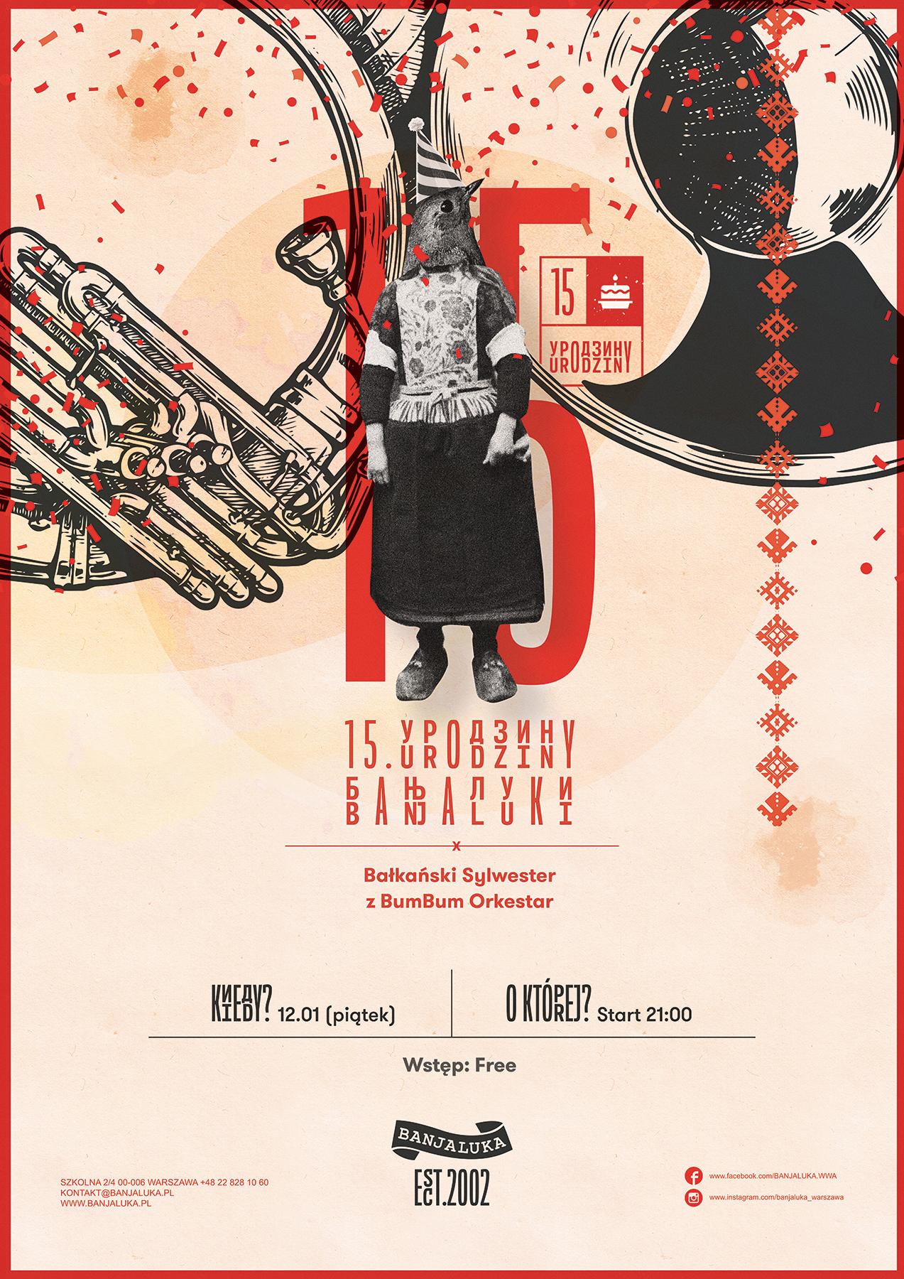 Plakat promujący urodziny Banjaluki