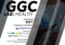 Plakat promujący wydarzenie GGC LAB