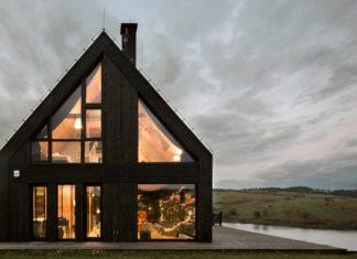 Minimalistyczny dom nad jeziorem