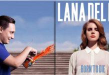 Okładka płyty Lany Del Rey i doklejony mężczyzna