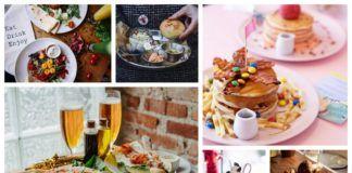 Sześć fotografii przedstawiających jedzenie