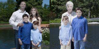 Dwa zdjęcia ludzi. którzy w wyniku przeróbki, wyglądają jak kartony