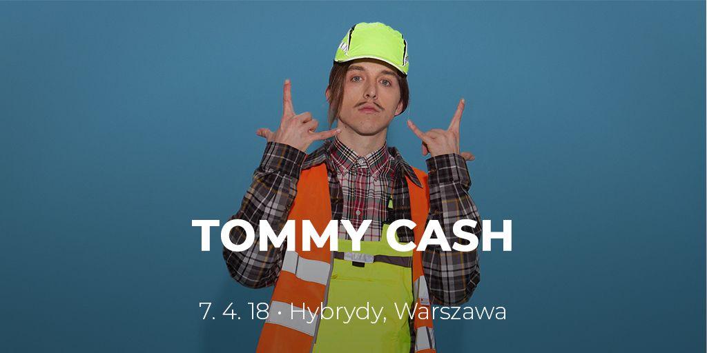 Plakat promujący koncert Tommy Cash