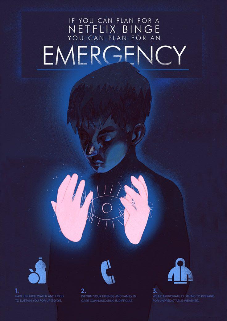 Ilustracja przedstawia chlopca na ciemnym granatowym tle oswietlone na rozowo sa jedynie jego rece, pomiedzy ktorymi widzimy jasnoniebieskie kontury oka