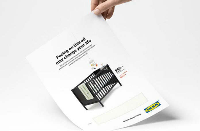 Kartka z reklamą IKEA