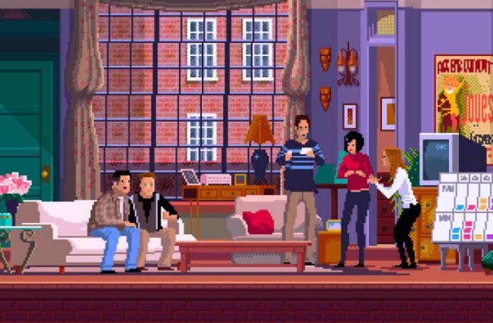 Pikselowa scena z serialu Przyjaciele