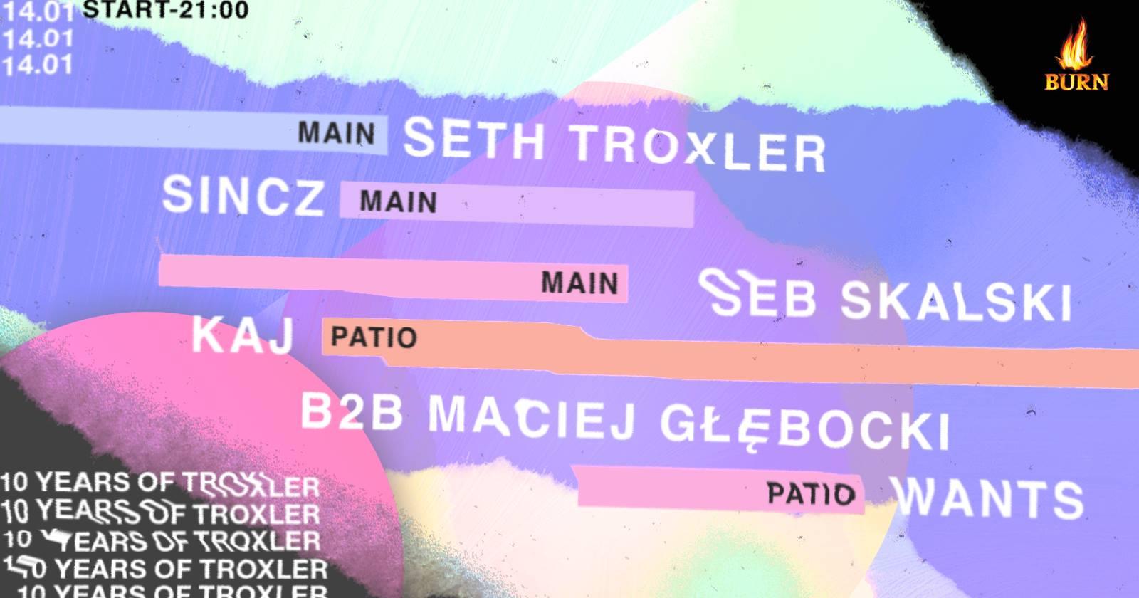 Plakat promujący występ Seth Troxlera