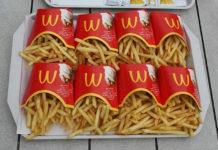Taca z frytkami z McDonalds