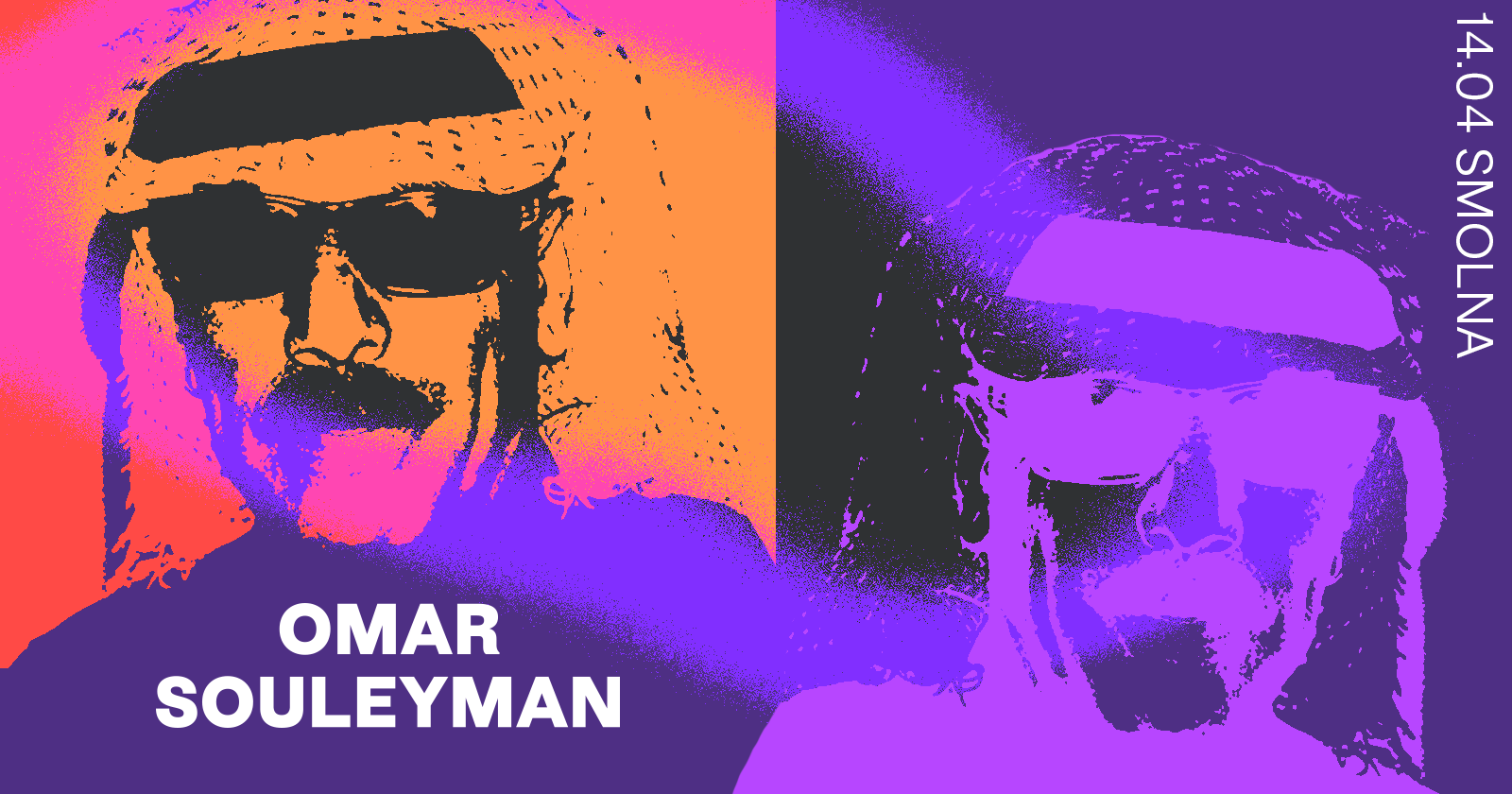 Plakat promujący koncert omar souleyman