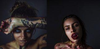 Dwa zdjęcia przedstawiająca półnagie kobiety