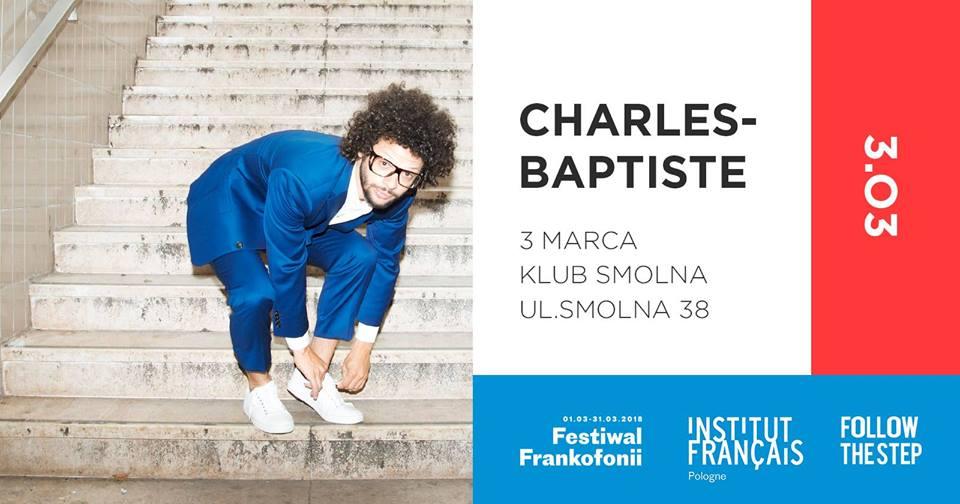 Plakat promuący koncert Charles Baptiste