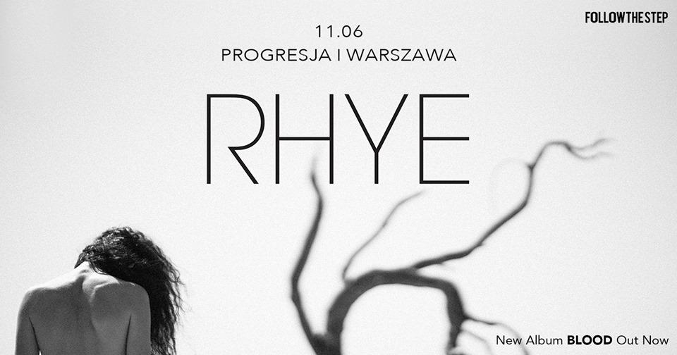 Plakat promujący koncert Rhye