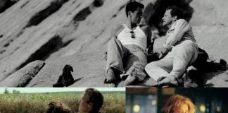 Trzy zdjęcia przedstawiajace pary LGBT
