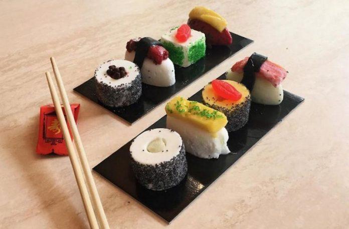 Lody, które wyglądają jak Sushi