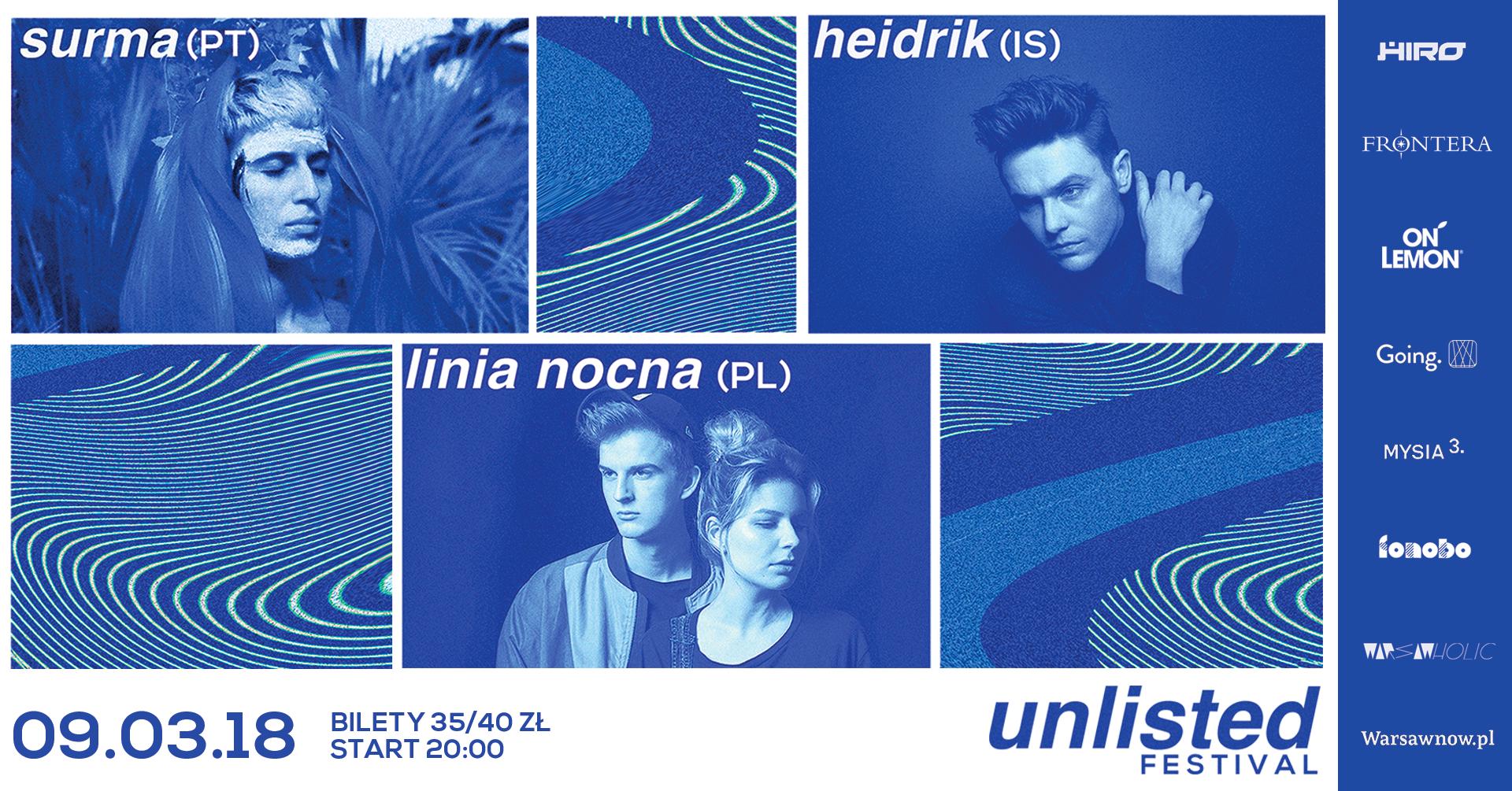 Plakat promujący Unlisted Festival