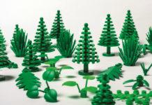 Drzewa i krzaki z klocków lego