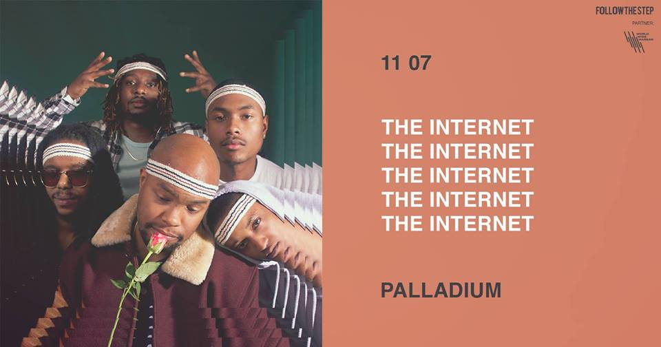 Plakat promujący koncert The Internet