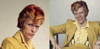 Zdjęcia przedstawiające mężczyzne ubranego w żółty garnitur