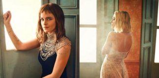 Zdjęcia dwóch kobiet ubranych w wieczorowe suknie
