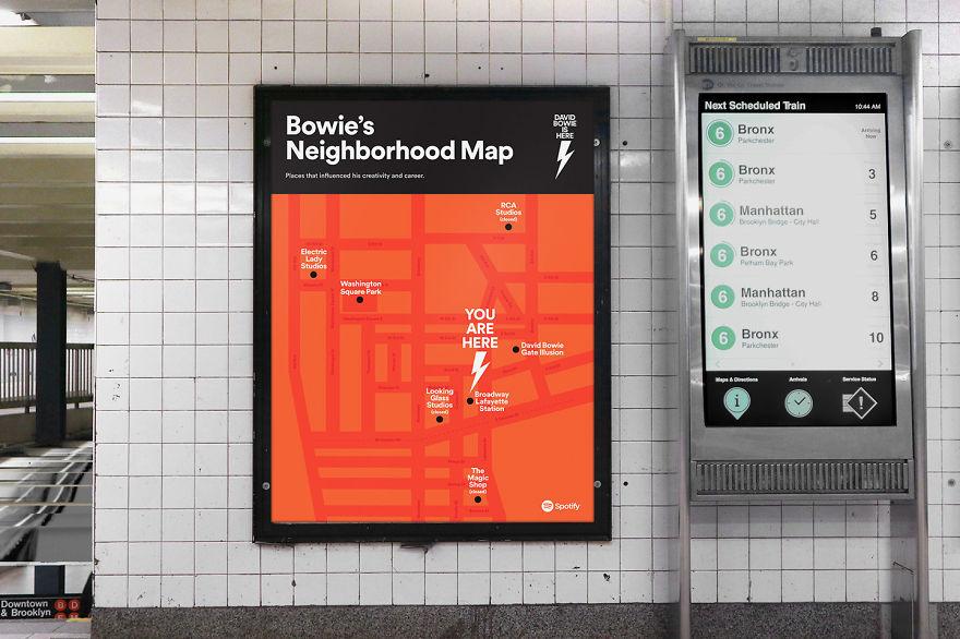 Mapa przedstawiająca nowojorską okolicę Davida Bowiego