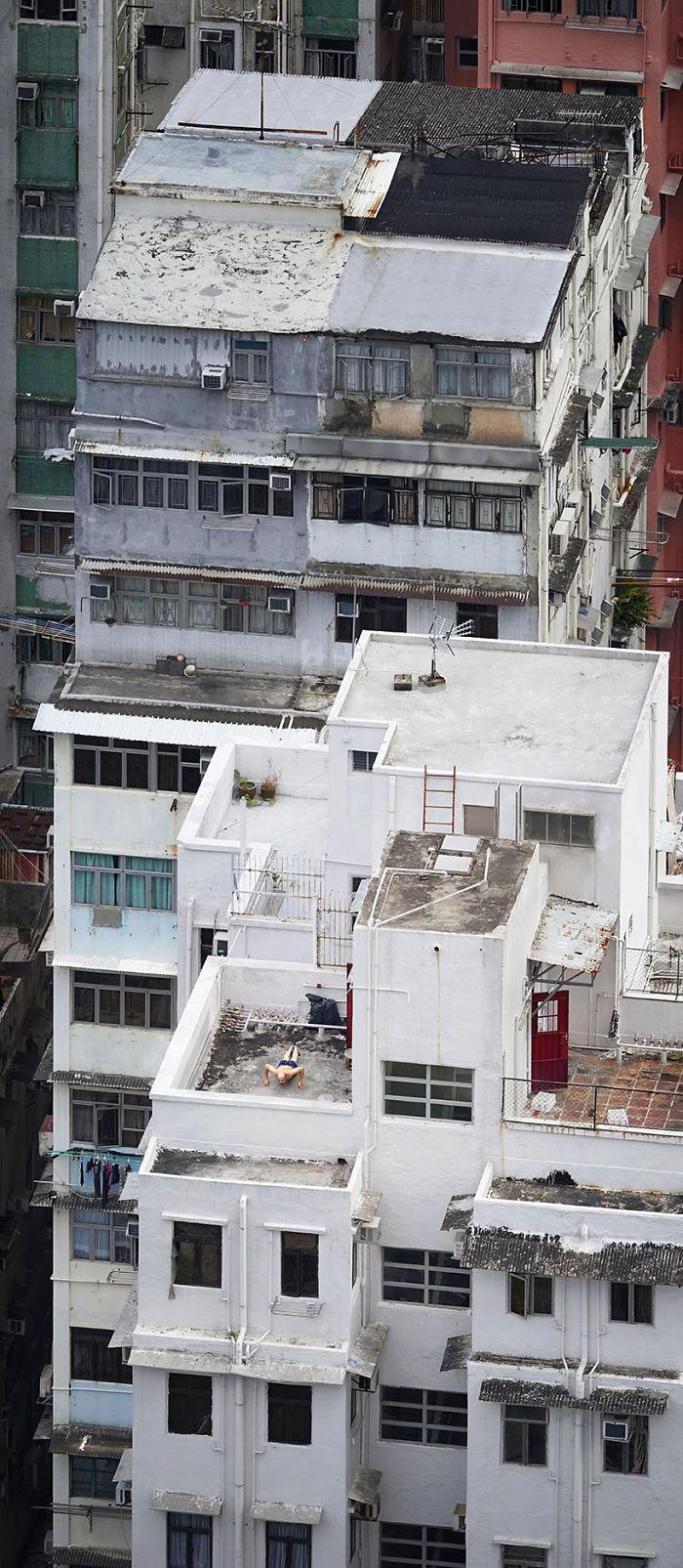 Widok na dach z lotu ptaka