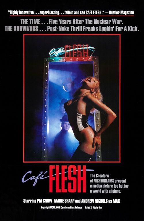 plakat promujacy postapokaliptyczny film porno Cafe Flesh