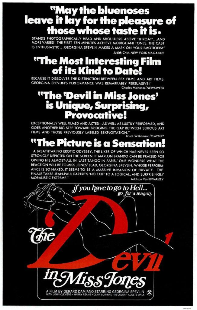 Plakat promujacy film porno the Deil in Miss Jones