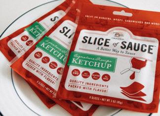 Opakowanie ketchupu w plastrach
