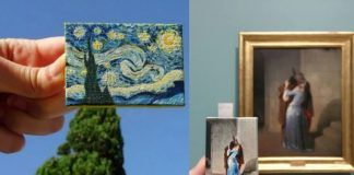 Dwie miniaturowe wersje obrazów