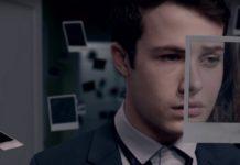 Chłopak z nałożonym na twarzy zdjęciem Polaroid
