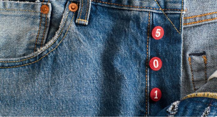 Spodnie Levi's z czerwonymi guzikami 501