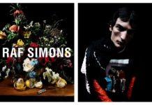 Kompozycja kwiatowa, a obok portret chłopaka