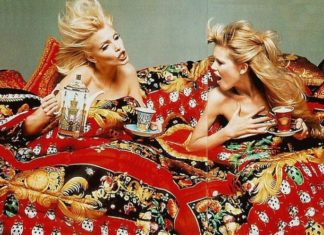 Dwie kobiety w kolorowej pościeli