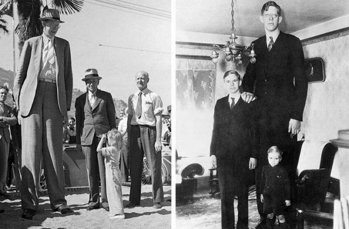 Dwa zdjęcia przedstawiające najwyższego mężczyzne na świecie