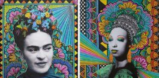 Dwa portrety w technikolorze przestawiajace kobiety