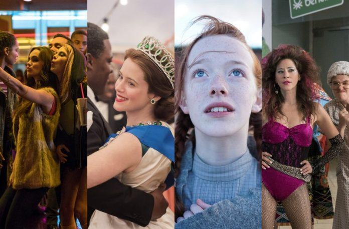 Kadry z seriali i filmów Netflix