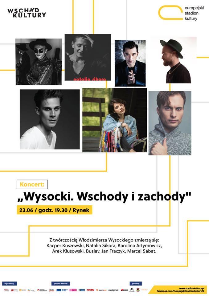 Plakat promujący koncert Wysocki Wschody i Zachody