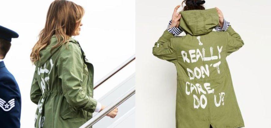 Kobieta od tylu dlugie wlosy i zielona kurtka