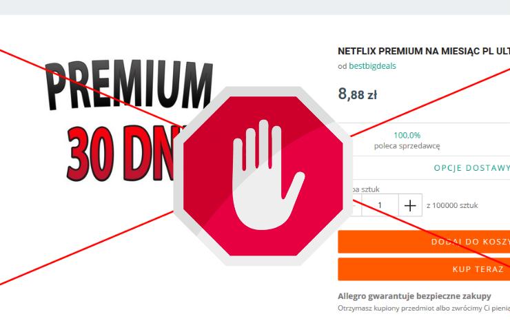 Allegro Zabronilo Sprzedazy Tanich Kodow Do Netflix Magazyn Hiro