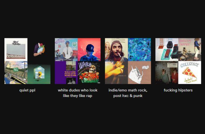 Obrazki przedstawiające okładki playlist